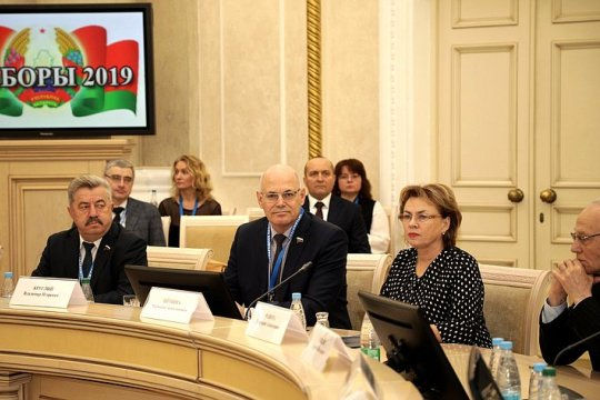 Сенаторы приняли участие в наблюдении за проведением выборов в Палату представителей Национального собрания Беларуси