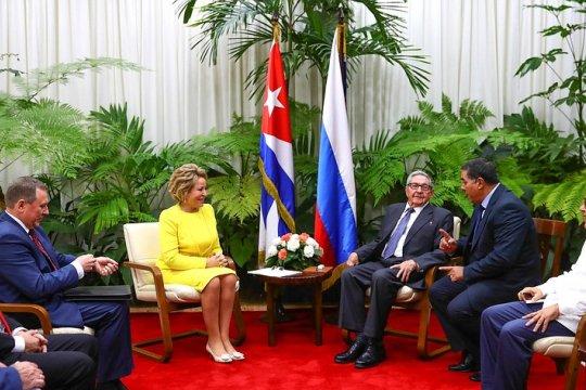 В. Матвиенко: Россия сохраняет приверженность линии на всестороннее укрепление стратегического партнерства с Кубой