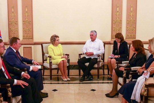 Состоялась встреча Председателя СФ и Президента Республики Куба
