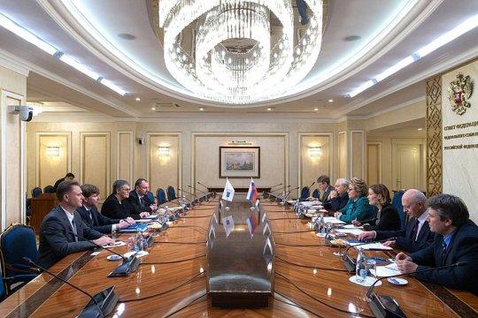 Председатель СФ В. Матвиенко встретилась с Председателем ПАСЕ Л. Мори Паскье