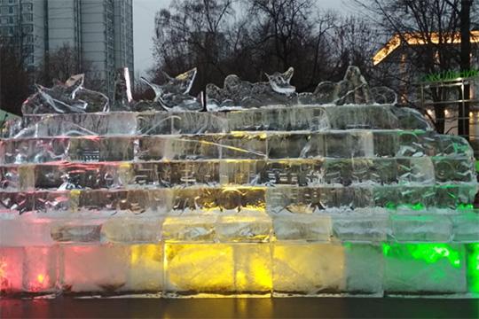 Фестиваль ледяных скульптур из Харбина открыт в Москве