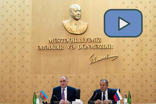 Совместная пресс-конференция Сергея Лаврова и Эльмара Мамедъярова в Баку