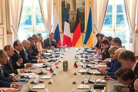 Встреча Путина и Зеленского пройдет после переговоров «нормандской четверки» - ТАСС