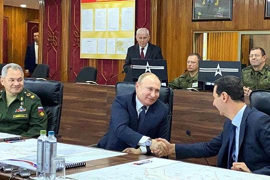 Владимир Путин посетил Сирийскую Арабскую Республику