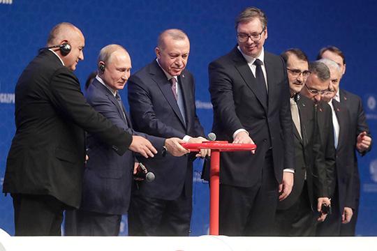 Путин и Эрдоган запустили «Турецкий поток»