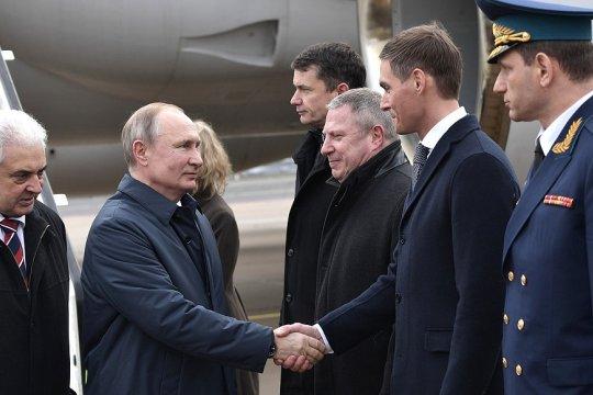Владимир Путин прибыл в Берлин для участия в Международной конференции по Ливии