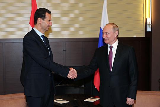 Путин провел встречу с Асадом в Дамаске