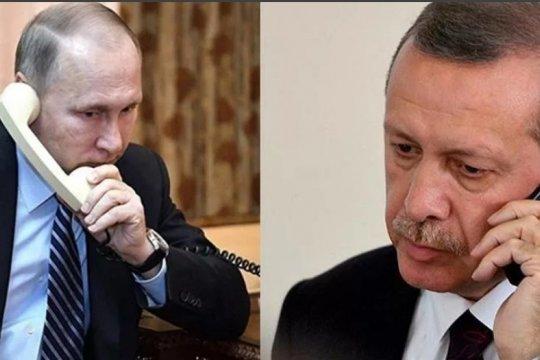 Путин обсудил с Эрдоганом ситуацию в Идлибе