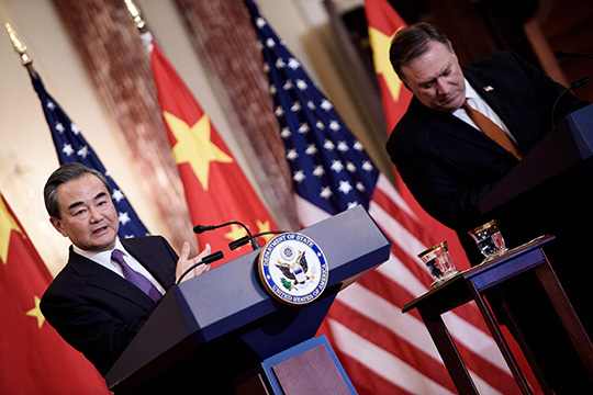 China speaks of the right of civilizations to development, and the United States speaks of the triumph of Western values