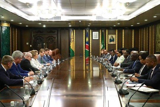 Состоялась беседа Председателя СФ и Президента Республики Намибия