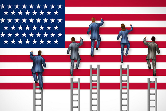 The ideology of top candidates for US presidency