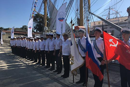 Экспедиция парусника «Крузенштерн», посвящённая 75-летию Победы, готовится к старту в Буэнос-Айресе