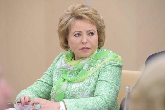 Валентина Матвиенко поздравила народы России и Беларуси с Днем единения