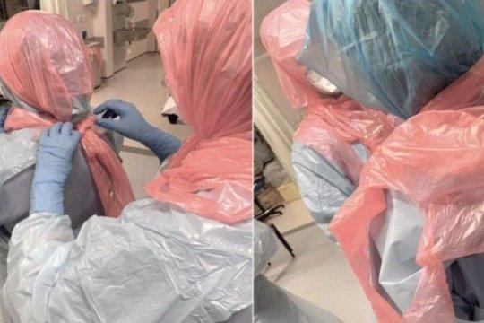Британский врач: мы вынуждены повязывать голову мусорными мешками