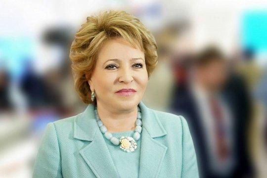 Матвиенко поздравила Ашимбаева с избранием на пост Председателя Сената Парламента Казахстана