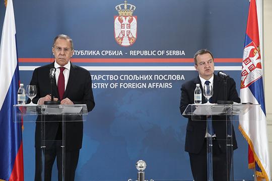 Пресс-конференция глав МИД России и Сербии Сергея Лаврова и Ивицы Дачича