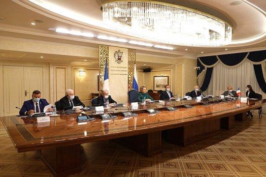 Состоялась встреча Председателя Совета Федерации В. Матвиенко и Председателя Сената Франции Ж. Ларше