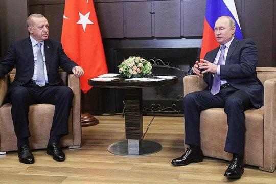 Путин и Эрдоган обсудили ситуацию в Сирии и Ливии