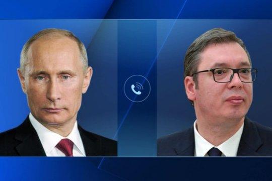 Путин и Вучич обсудили проблему косовского урегулирования