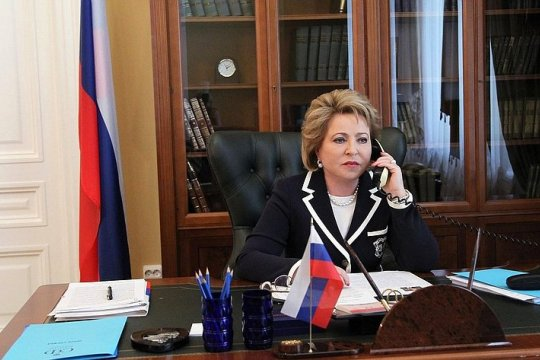 Состоялись телефонные разговоры Председателя Совета Федерации с главами парламентов Азербайджана и Армении