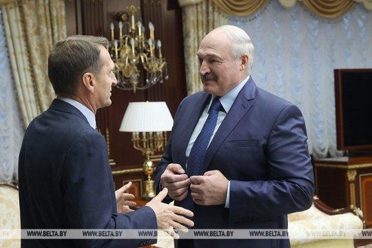 Лукашенко поблагодарил Нарышкина за предоставление информации от СВР