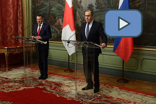 Пресс-конференция главы МИД России Сергея Лаврова и президента МККК Петера Маурера