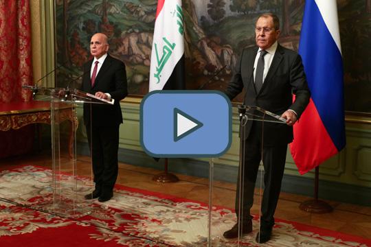 Совместная пресс-конференция глав МИД России и Ирака Сергея Лаврова и Фуада Хусейна