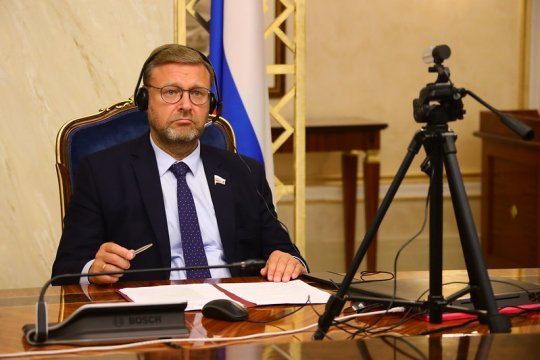 К. Косачев провел встречу с Чрезвычайным и Полномочным Послом Финляндии в РФ А. Хелантерей