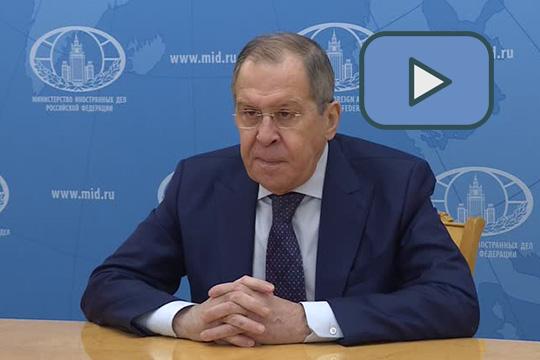 Ответы Сергея Лаврова на вопросы телеканала «РТ»