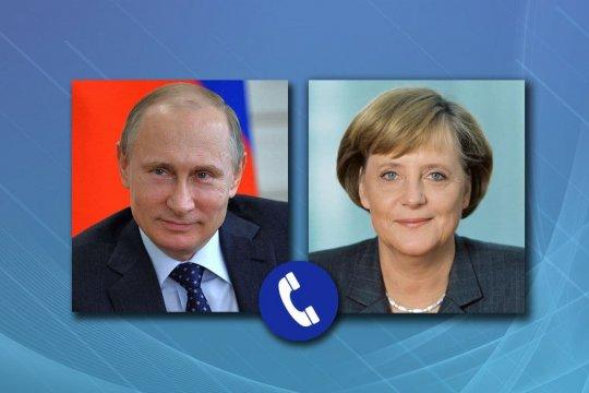 Путин и Меркель обсудили в телефонном разговоре карабахское урегулирование и Украину