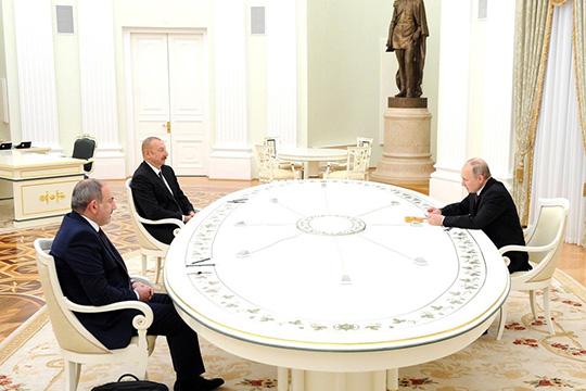 В Москве прошла встреча лидеров России, Армении и Азербайджана