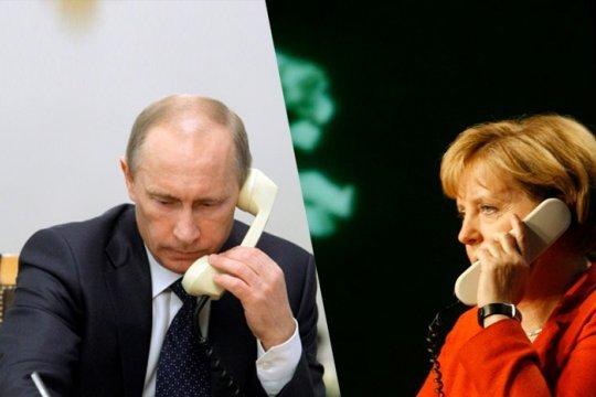 Путин и Меркель обсудили урегулирование внутриукраинского кризиса