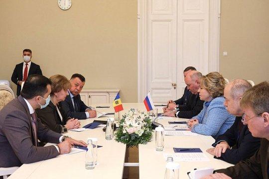 Председатель СФ В. Матвиенко провела встречу с Председателем Парламента Республики Молдова З. Гречаный