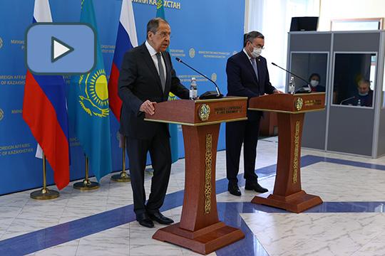 Пресс-конференция глав МИД России и Казахстана