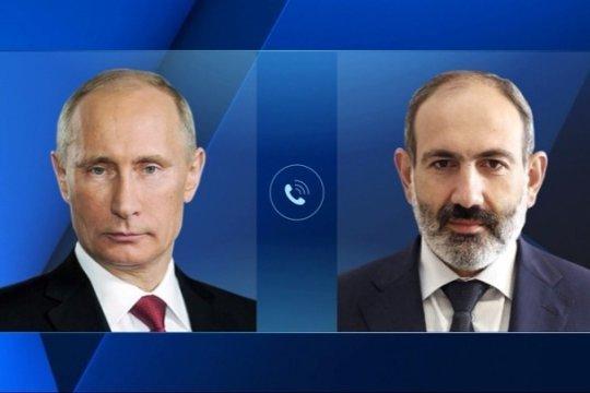 Путин и Пашинян обсудили ситуацию в Нагорном Карабахе