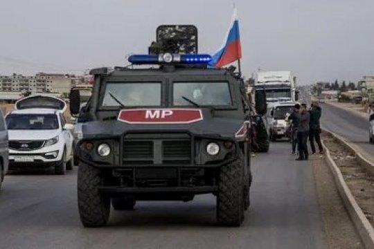 Российский военный погиб в Сирии в результате подрыва бронеавтомобиля