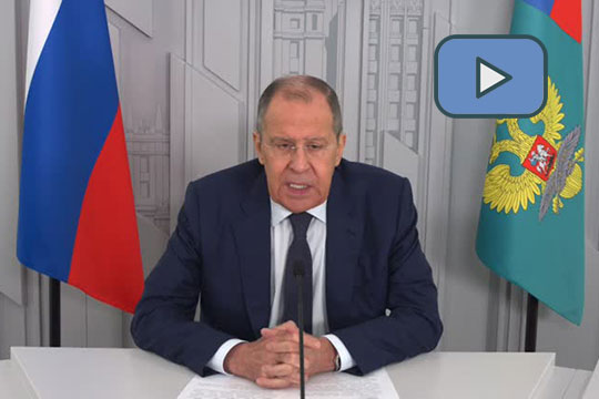 Видеообращение С.В.Лаврова к участникам открытой конференции в рамках заседания Генассамблеи Итало-Российской торговой палаты