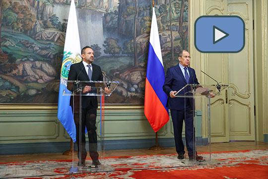Пресс-конференция глав МИД России и Сан-Марино