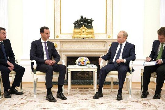 Владимир Путин принял в Кремле Башара Асада