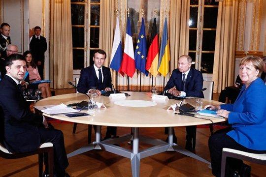 Путин обсудил ситуацию в Донбассе с Меркель и Макроном