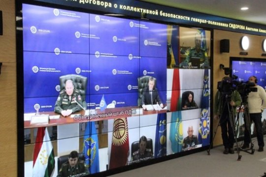 Брифинг начальника Объединенного штаба ОДКБ А.А.Сидорова