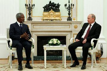 Встреча В.В. Путина со спецпосланником ООН и ЛАГ Кофи Аннаном