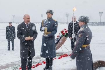 Сенаторы В. Пономарев, Б. Жамсуев и А. Широков приняли участие в «Эстафете памяти», посвященной 70-летию Великой Победы