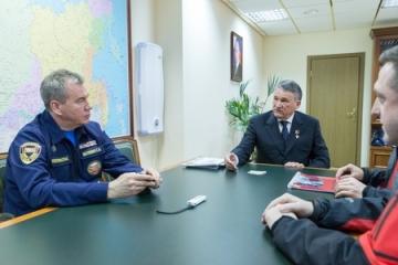 Ю. Воробьев провел встречу с участниками международного проекта «Звезда Победы»