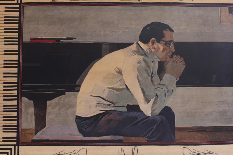портрет композитора Кара Караева, перенесенный на ковер