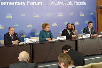 Председатель Совета Федерации РФ В.И.Матвиенко: «21-я сессия АТПФ это – серьезный шаг вперед»