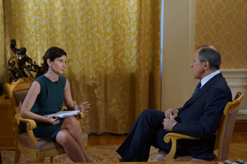 Interview by the Minister of Foreign Affairs of the Russian Federation Sergey Lavrov on TV Channel