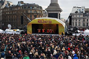 Олимпийский задор возвращается на Трафальгарскую площадь вместе «Масленицей 2014»