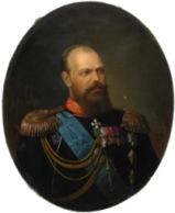 Портрет Александра III.худ. Н.Т. Богацкий, 1887. (Резиденция российского посла в Париже)