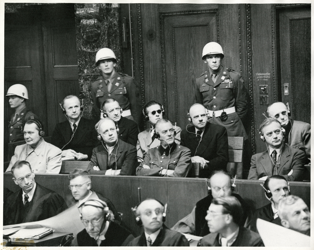 Фашистские главари на скамье подсудимых